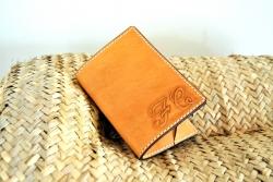 Protège passeport cuir Maroquinerie Jollet Atelier
