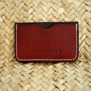 Porte carte simple Jollet Atelier maroquinerie 4