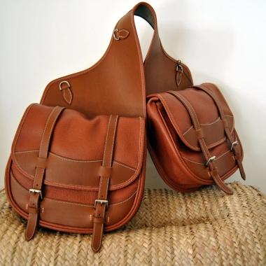 Sacoches de randonnée équitation sellerie Jollet Atelier