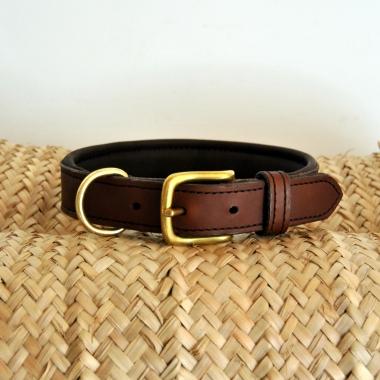 Collier chien cuir Jollet atelier sur-mesure maroquinerie