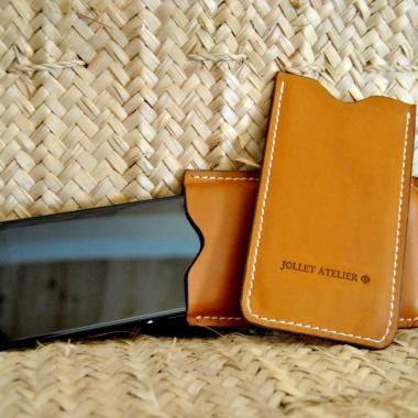Étuis cuir téléphone portable Maroquinerie Jollet Atelier 2